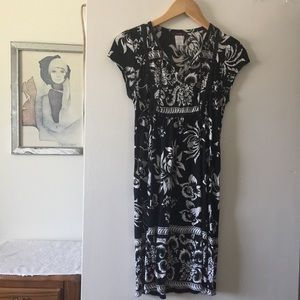 Mark bandana type print black & white dress size M